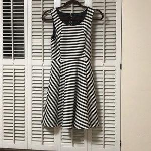 Express Striped Black and White Dress Size XS